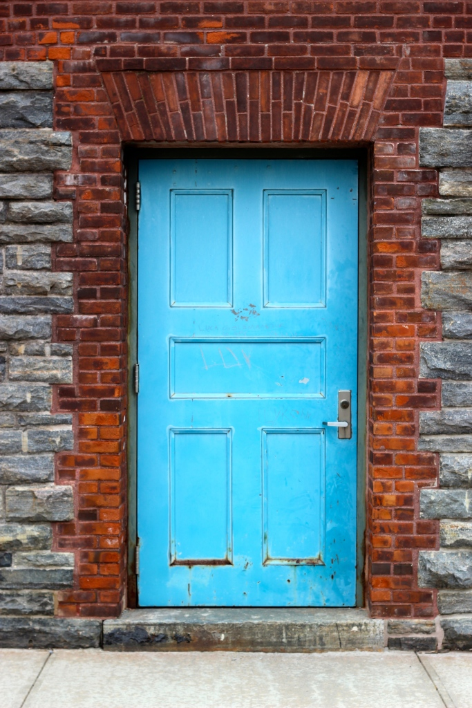 Door of Lab, Southpoint Park, Roosevelt Island, May 2014